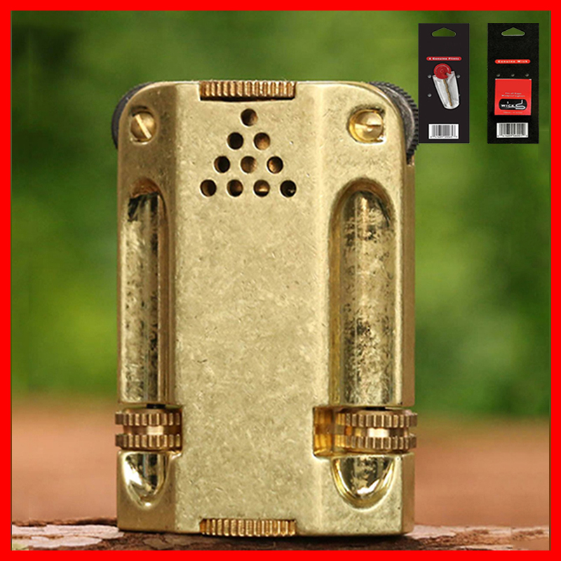 Combo Hộp Quẹt Bật Lửa Xăng Đá Độc Lạ Z546 + Tặng Bấc Đá Chuyên Dụng Cho Bật Lửa