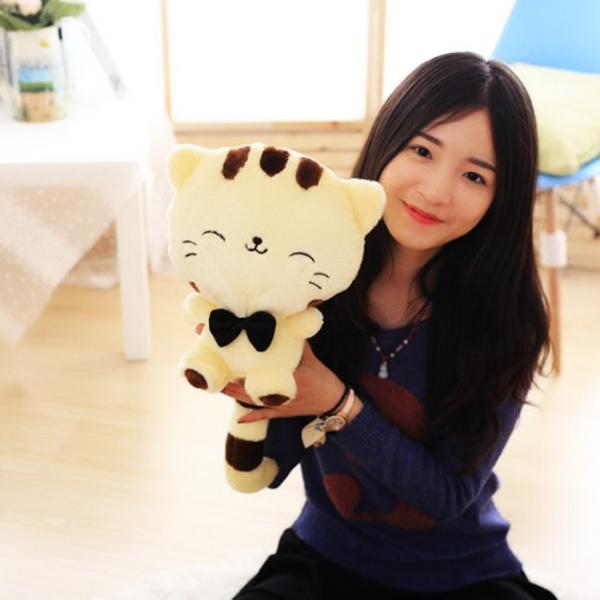 Gấu Bông Mèo Meng Meng (25 Cm) Gb28 (Vàng Kem)