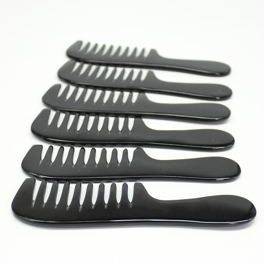 Lược Sừng massage đầu giúp lưu thông máu - COH145 - Lược răng thưa - Horn Comb of HAHANCO