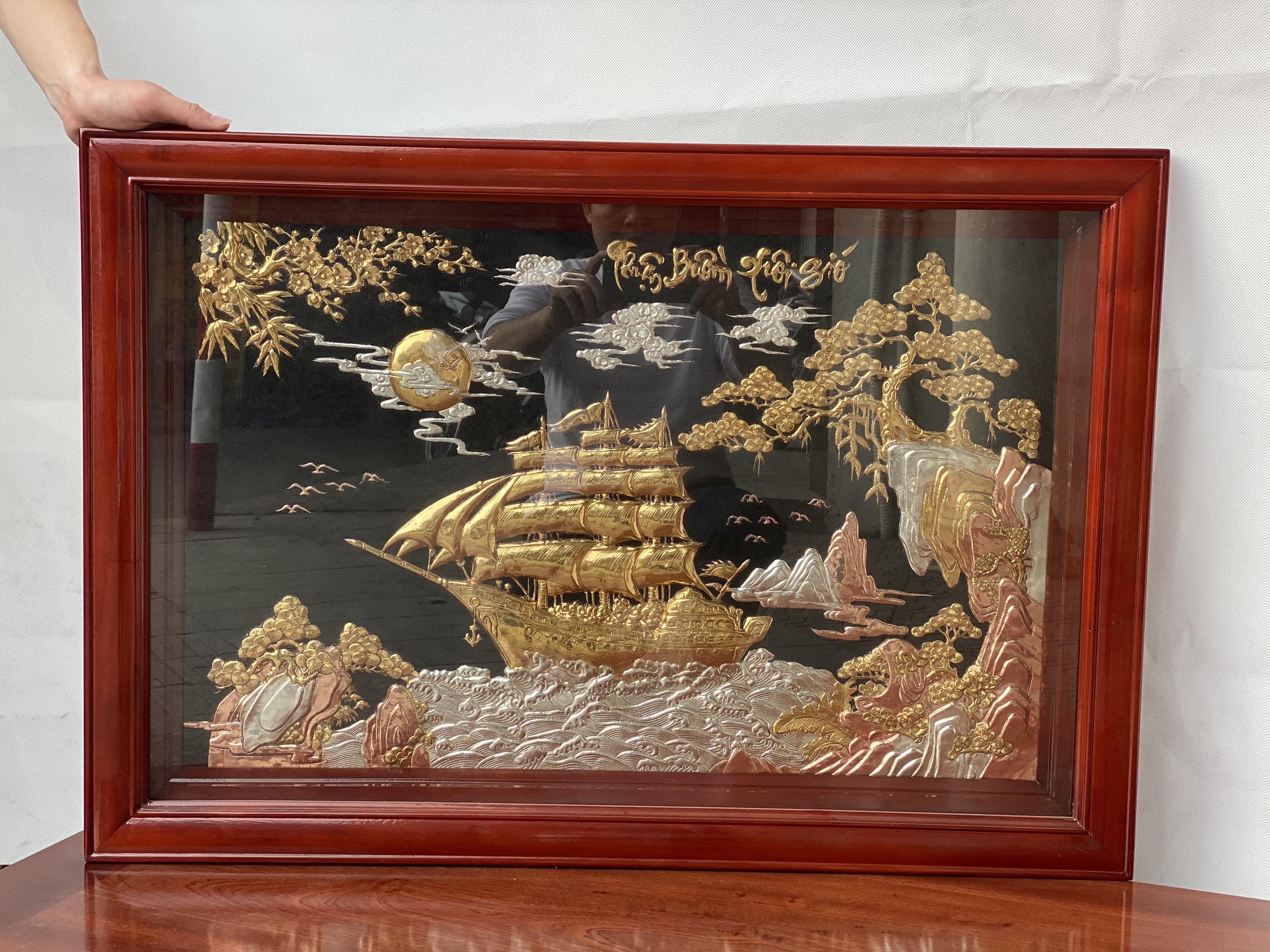 Tranh Thuận Buồm Xuôi Gió Bằng Đồng Lê Gia