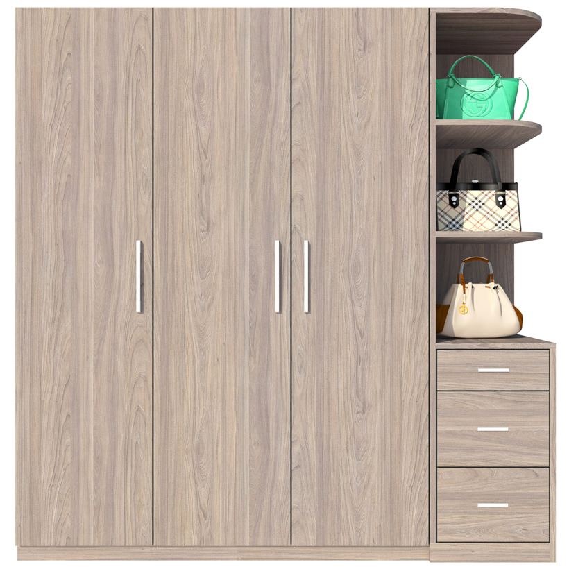 Tủ Áo FINE FT042F (180cm x 200cm) Thiết kế hiện đại, các ngăn tủ rất rộng để xếp gọn và treo quần áo thoải mái