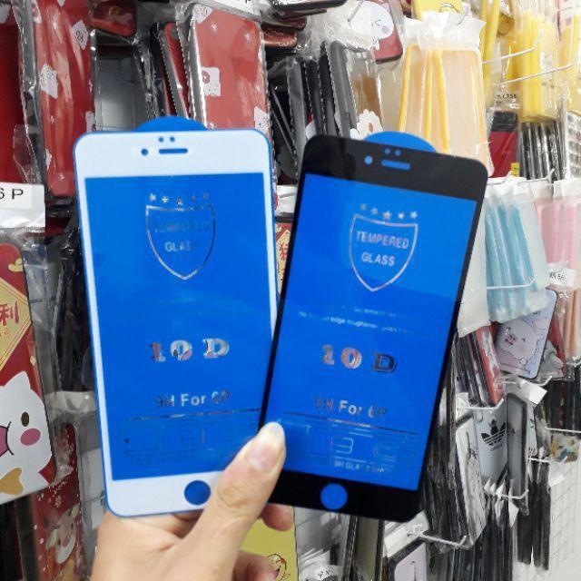 Kính Cường Lực IPhone 10D FULL MÀN Cho Iphone 6/6s/6sPlus/7/8/7Plus/8Plus/X/XR/Xs Max