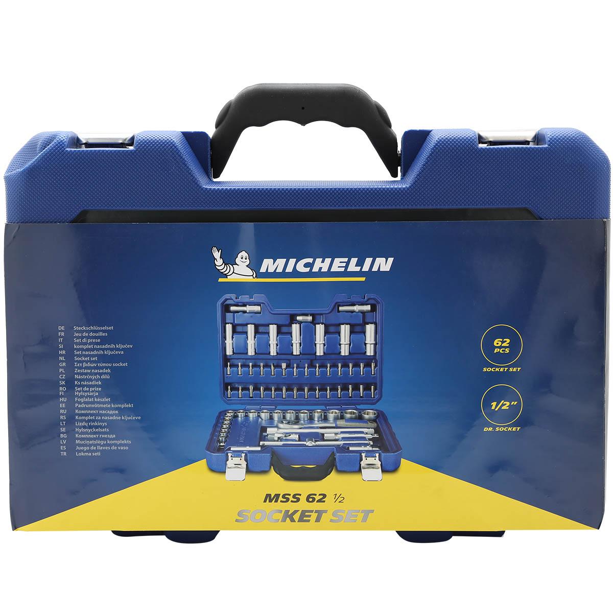 Bộ Đồ Nghề Chuyên Dụng Cho Sửa Chữa Ô tô  - Xe Máy - Michelin 62pcs - Hàng Chính Hãng