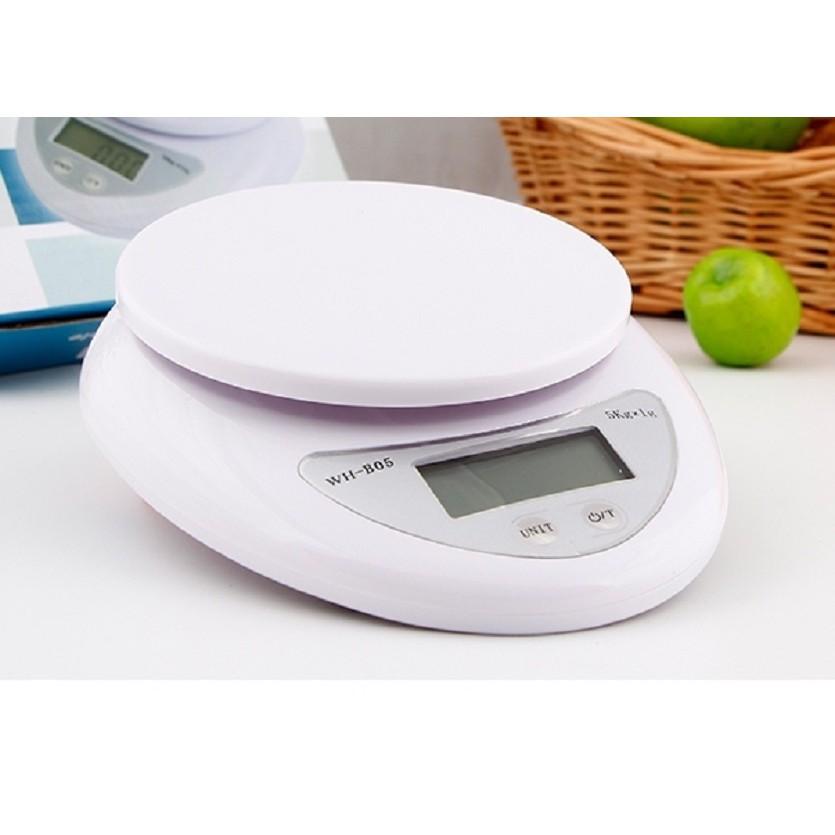 Cân điện tử thực phẩm cho nhà bếp từ 5kg/ 1g + 2 pin AAA