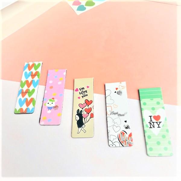Combo 5 Bookmark Nam Châm Đánh Dấu Sách - Love (Mẫu Ngẫu Nhiên)