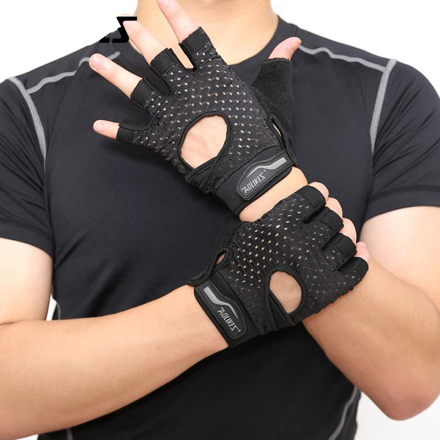 Bộ đôi gang tay nửa ngón tập thể dục thể thao Aolikes AL113