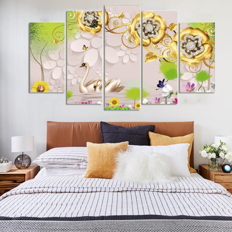 Tranh Treo Tường Phòng Ngủ - Tranh Thiên Nga Phòng Ngủ