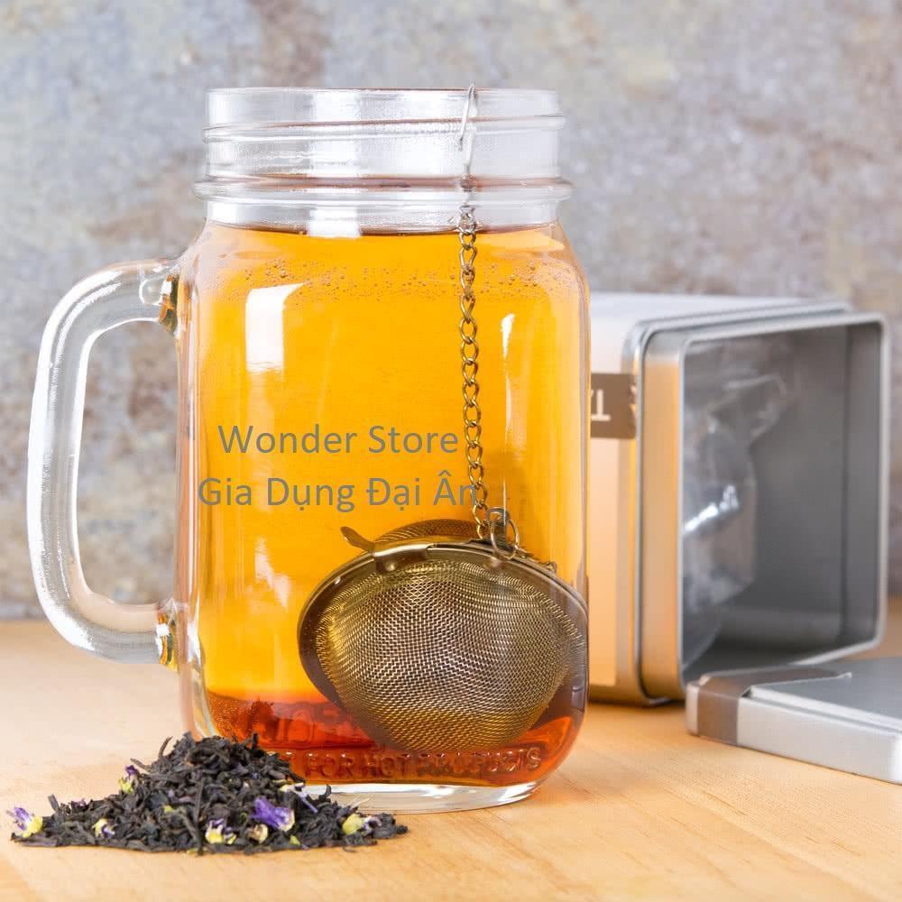 Quả cầu lọc trà phong cách cổ điển quý tộc Anh lưới inox 5.5cm