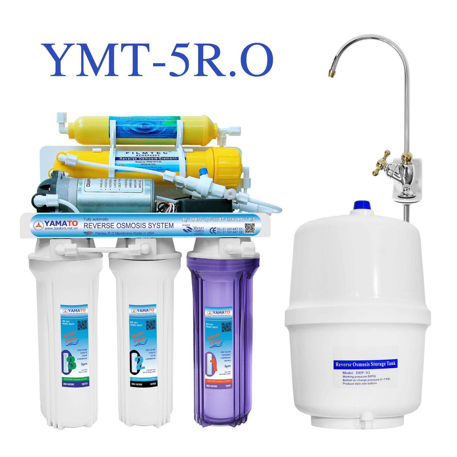 Máy lọc nước R.O YAMATO 5 cấp lọc YMT-5RO- Hàng chính hãng