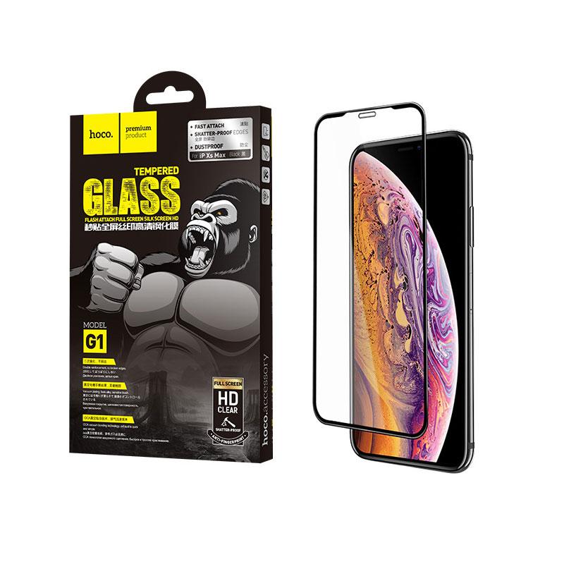 Kính cường lực iPhone Hoco full màn hình HD cho iPhone X/Xs/Xr/Xs Max (G1) - chính hãng