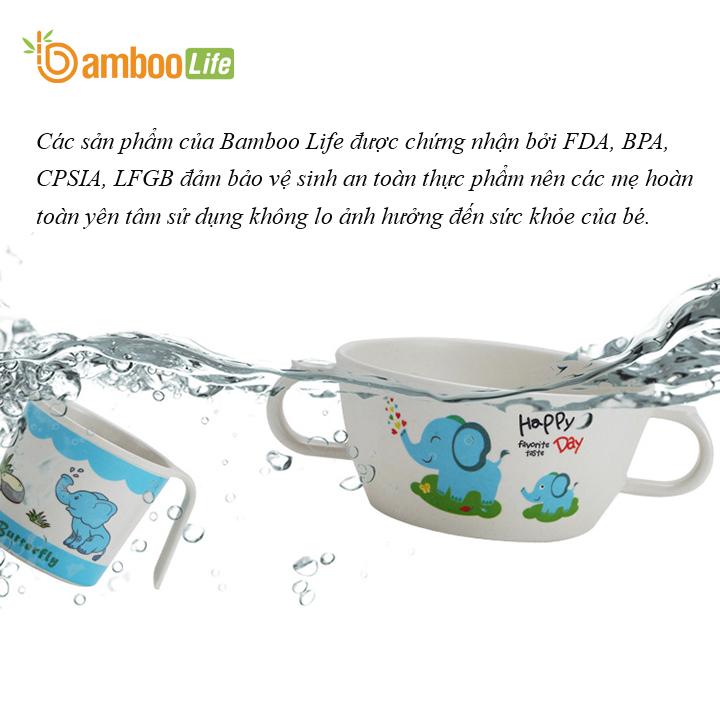 Chén bát ăn cho bé Chén bát ăn dặm từ sợi tre Bamboo Life cho bé BL1809 hàng chính hãng Dụng cụ ăn dặm Đồ dùng ăn dặm cho bé