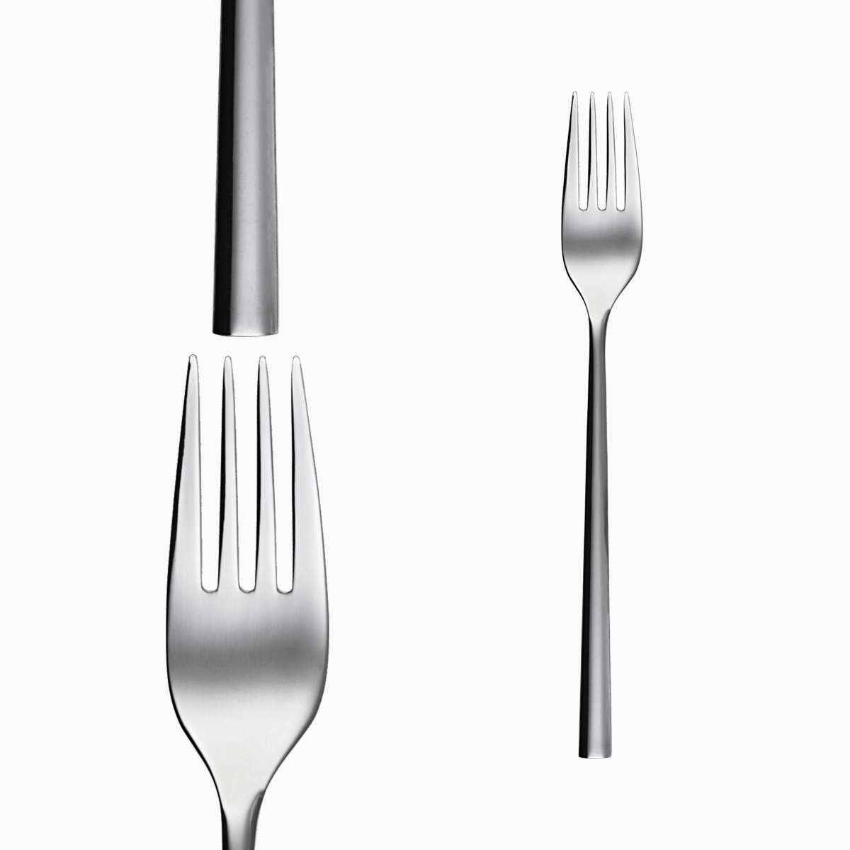 Bộ 6c Nĩa ăn Inox 304 (Set of 6pcs Table fork SS18/10) 107001