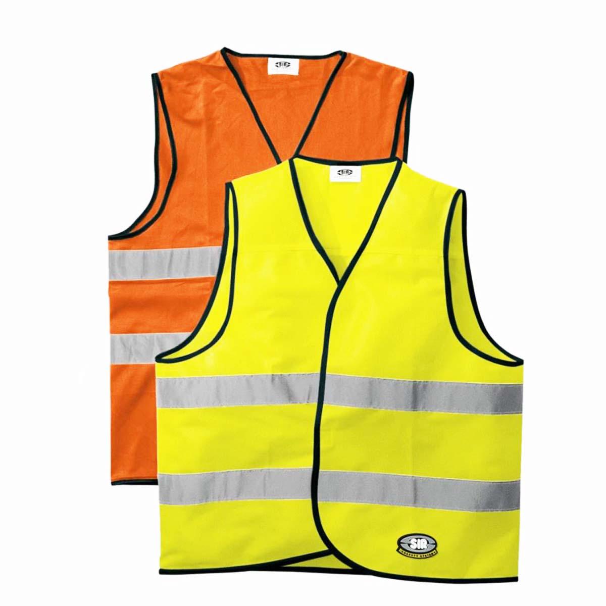 Áo khoác Vest phản quang có độ hiển thị cao SIR 34902 – 06 High-Visibility 100% Polyester Waistcoat Safety Vest
