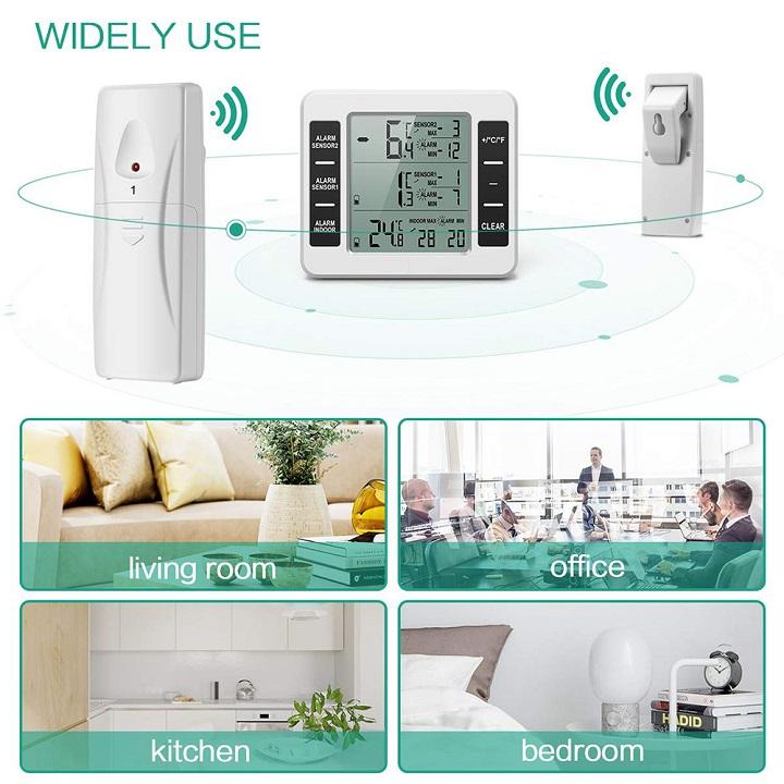 Máy đo nhiệt độ 3 trong 1 cao cấp ( Tặng kèm 03 nút kẹp giữ dây điện )