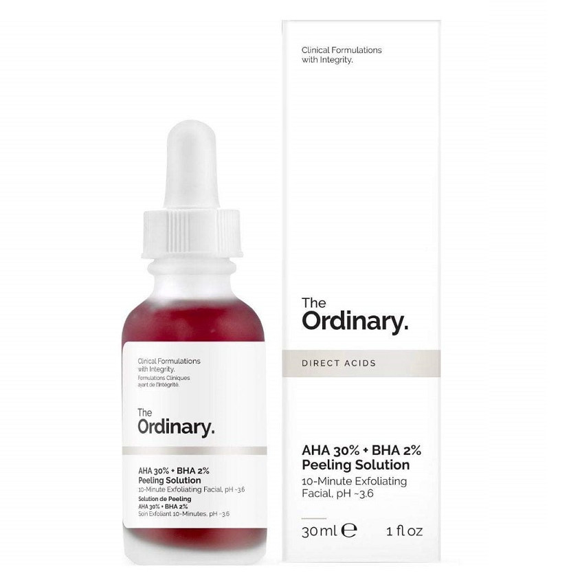 Serum Tẩy tế bào chết, cải thiện mụn, vết thâm tái tạo da The Ordinary AHA 30% BHA 2% Peeling Solution (30ml)