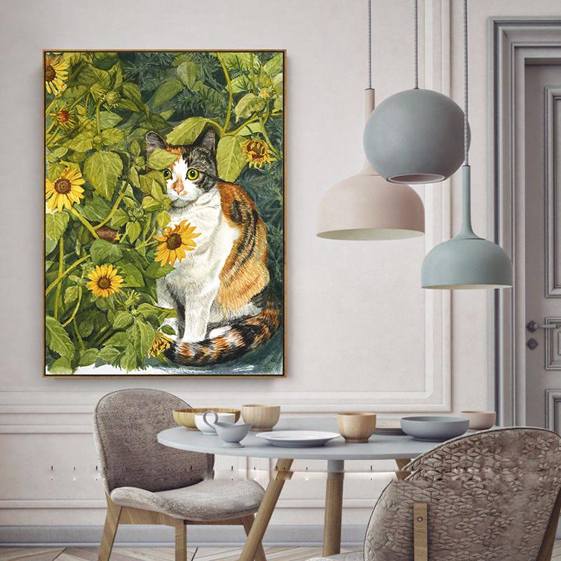 Tranh trang trí Chú mèo DC133