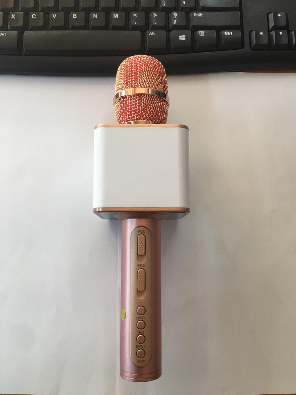 Mix hát karaoke Bluetooth SD-08 ( Mầu hồng)