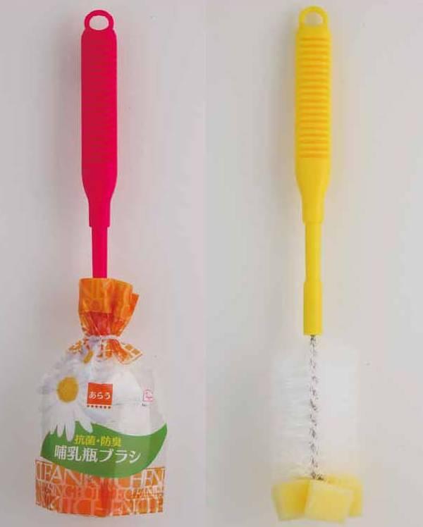 Bộ 3 dụng cụ vệ sinh chai, lọ đầu mút chống khuẩn (giao màu ngẫu nhiên) - Hàng nội địa Nhật