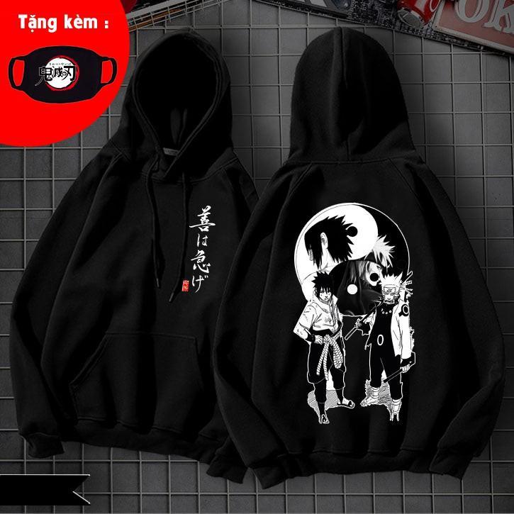 Áo khoác hoodie Naruto dáng unisex