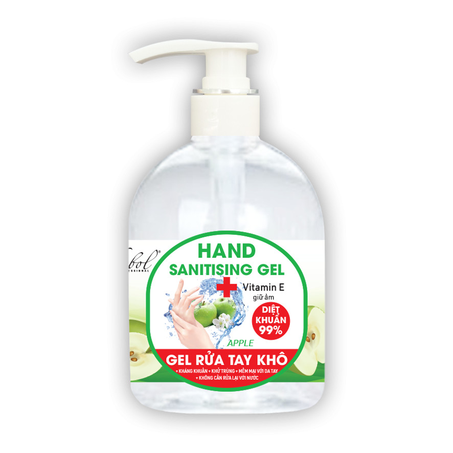 Nước rửa tay khô diệt khuẩn hương táo Thebol 450ml