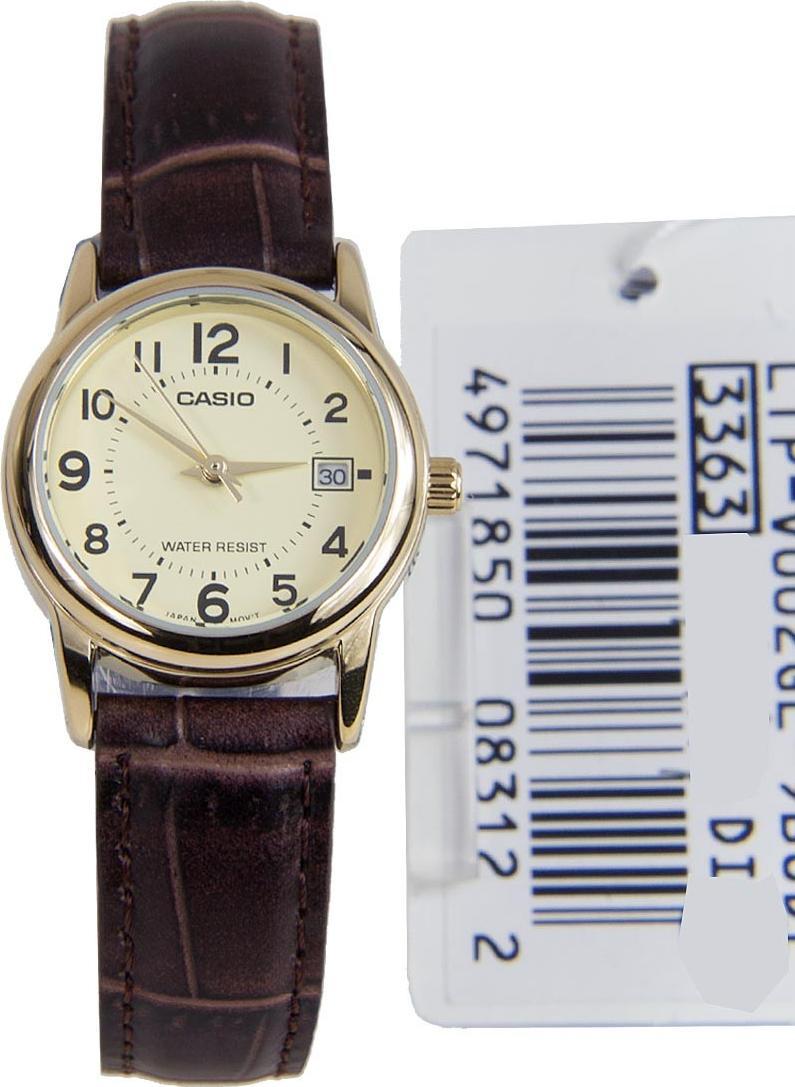 Đồng hồ nữ dây da Casio LTP-V002GL-9BUDF