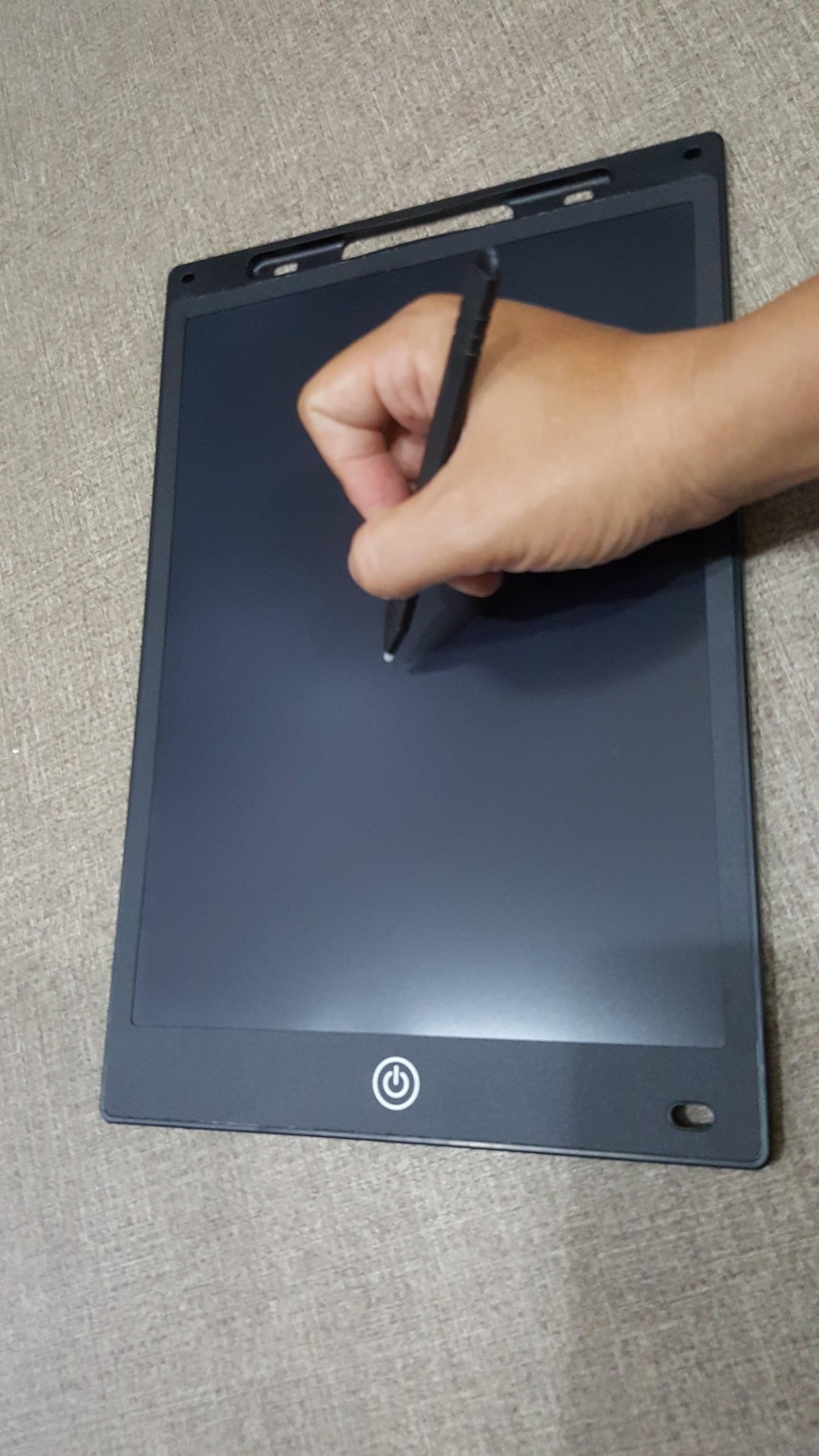 Bảng Vẽ Điện Tử Thông Minh Tự Xoá - Size 12 inch - Màu Đen