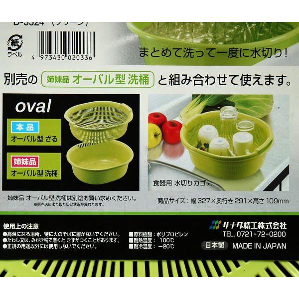 Combo rổ nhựa và chậu nhựa 5,3l màu xanh nội địa Nhật Bản