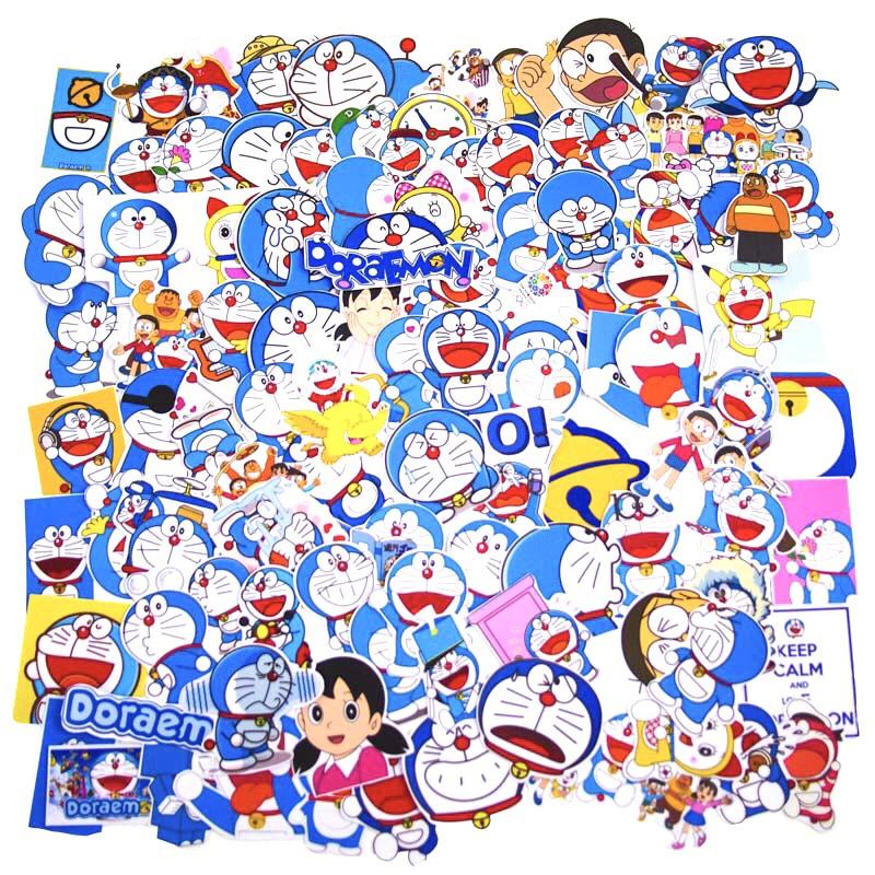 Set 60 Sticker Doraemon có ép lụa