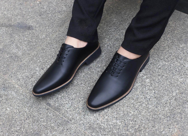 Giày tây nam thời trang nam Udany_ Giày buộc dây_ Giày đẹp_ GBD003