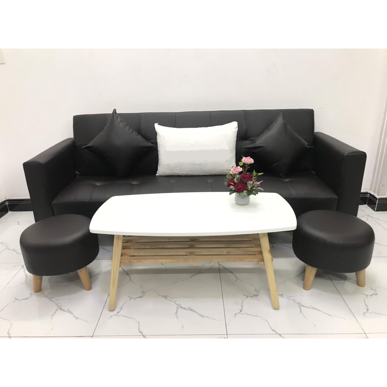 Bộ ghế sofa giường 2mx90 sofa bed có tay phòng khách sopha linco07
