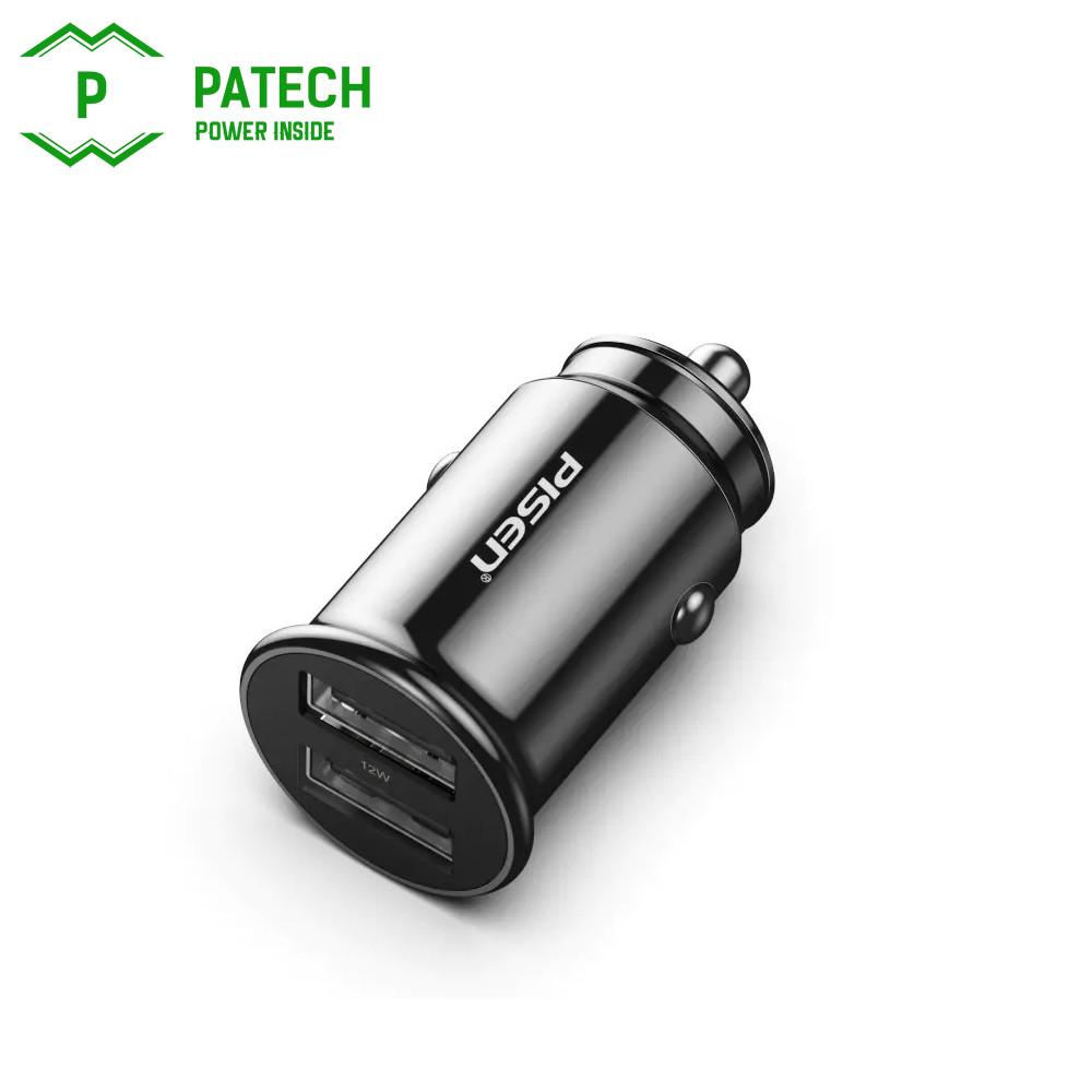 Sạc PISEN Dual USB Car 2.4A - Super small, FAST - Hàng Chính Hãng