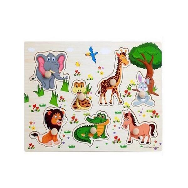 Combo 4 bảng đồ chơi  ghép gỗ có núm cho bé