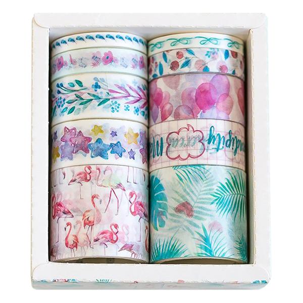 Bộ 10 Băng Keo Trang Trí Washi Tape The Wind Blows