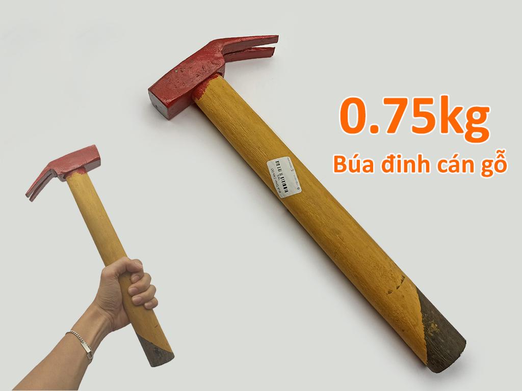 Búa đinh cán gỗ 0.75kg