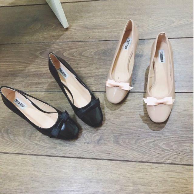 Giày gót vuông 5p