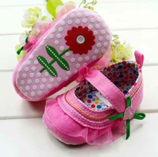 (3-12thang)giầy tập đi đế vải sơ sinh