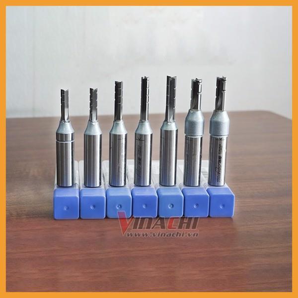 Mũi Cắt CNC Tideway 3 Cánh Cốt 12,7mm - Mũi Cắt CNC Tideway 3 Cánh Cốt cắt sâu, không bám gỗ giúp đẩy mũi khoan nhẹ