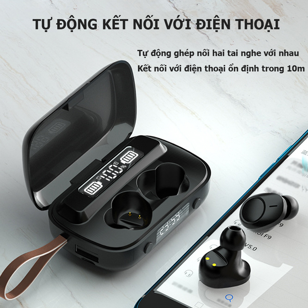 Tai nghe Bluetooth A13, tai nghe không dây kết nối với tât cả điện thoại và máy tính bảng thông minh, âm thanh chất lượng cao- Hàng nhập khẩu