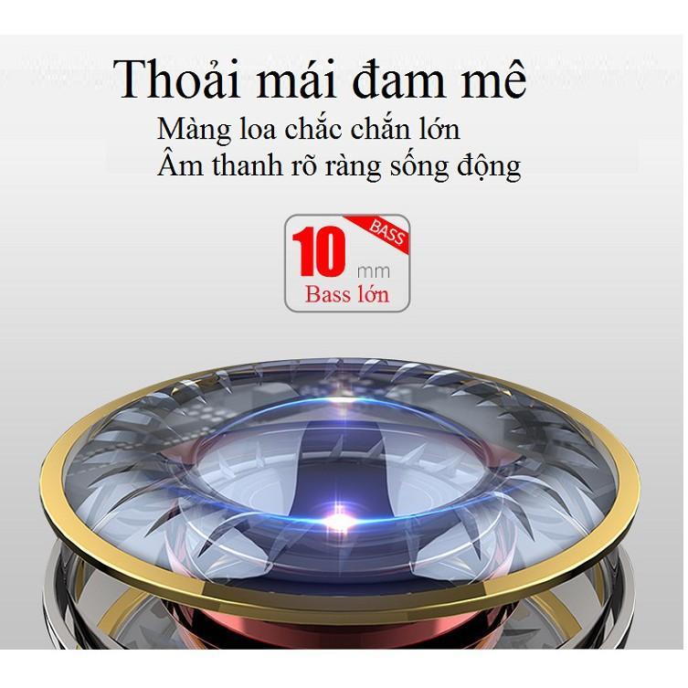 Tai Nghe Nhét Tai ️️ Tai Nghe Bluetooth Kiểu Dáng Thể Thao -Tai Nghe Treo Cổ H6 Chống Mồ Hôi Không Gây Đau Tai
