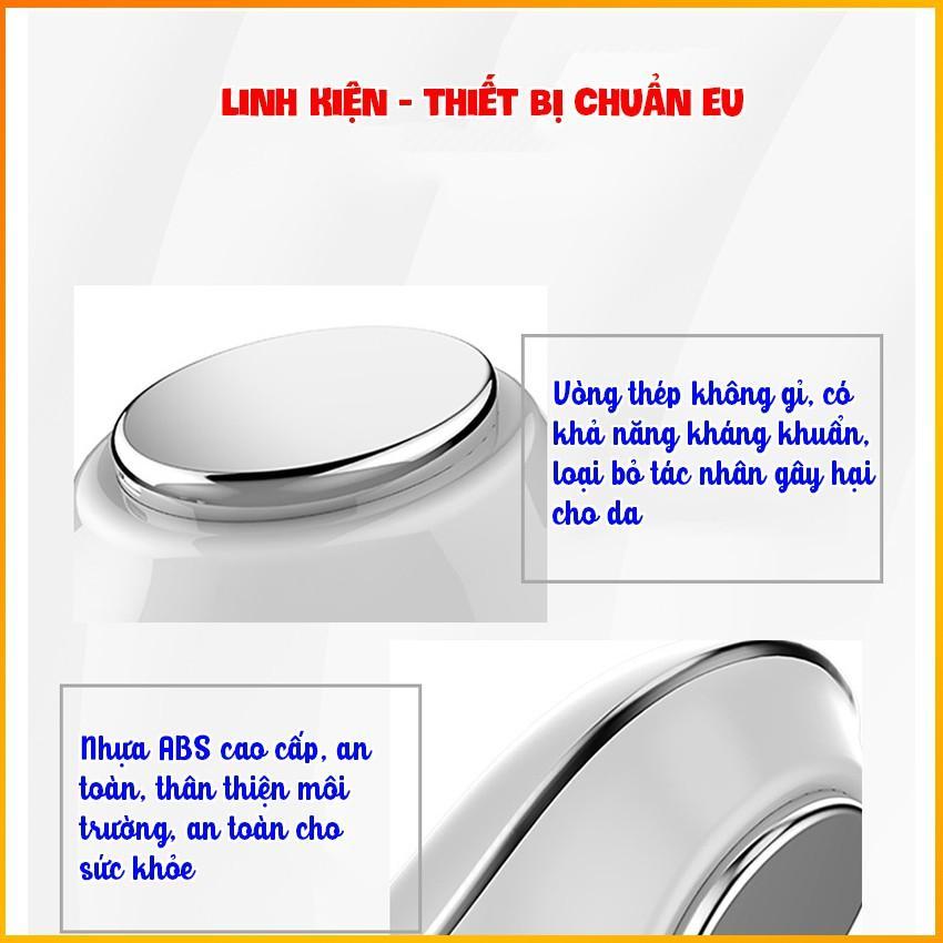 Máy massage mặt nóng lạnh cao cấp - Máy massage cầm tay 06 chế độ - HDSD Tiếng Việt - BH 3 tháng Kaizo Mart