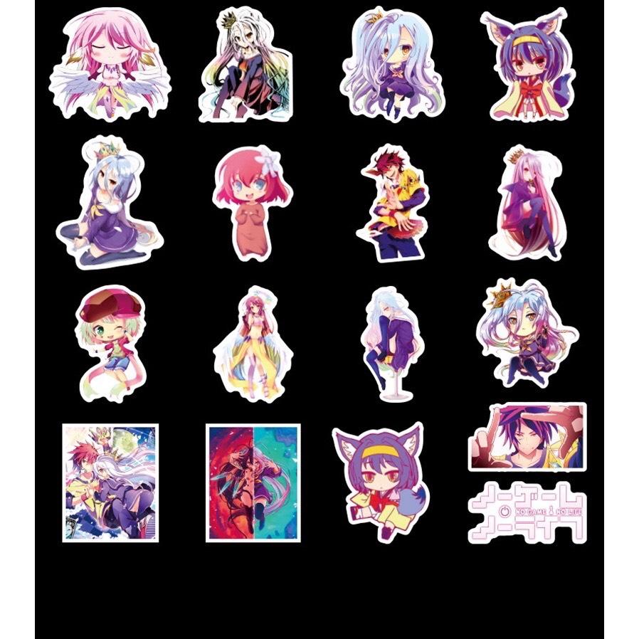 Set 60 Sticker No Game, No Life