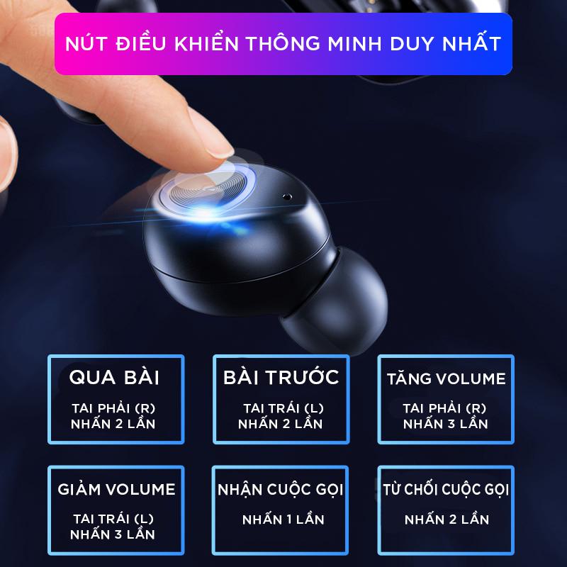 Earphone WlRELESS 5.0 V10 - Nhập Trung Quốc TWS - Tặng 1 Móc Chìa Khoá LAVATINO Chính Hãng