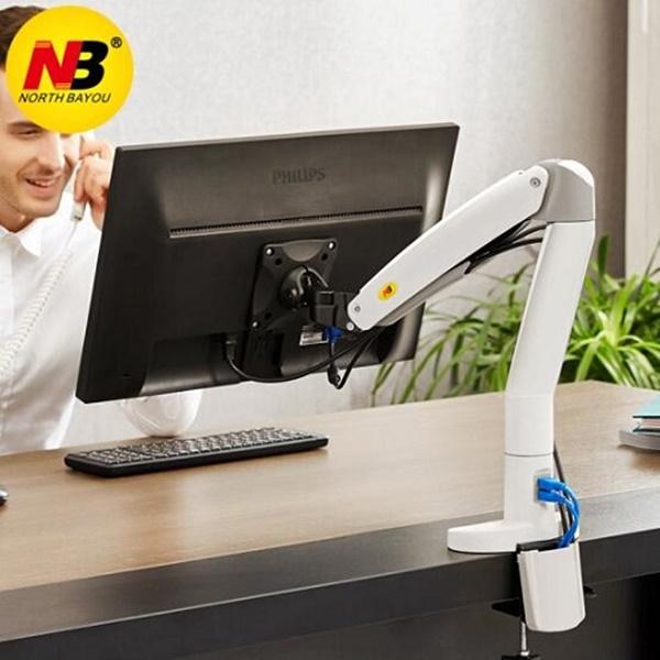 Giá đỡ màn hình máy tính siêu lớn F100A 22-35 inch, xoay 360 độ, tay dài, tích hợp USB 3.0, hàng Nhập Khẩu