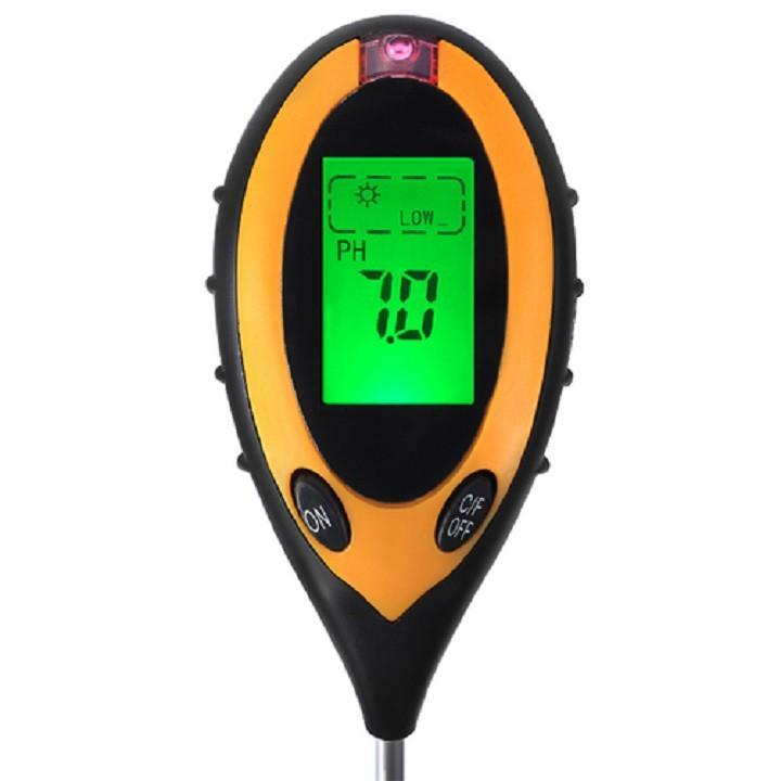 Dụng cụ đo PH 4 trong 1 (PH, độ ẩm, ánh sáng, nhiệt độ)