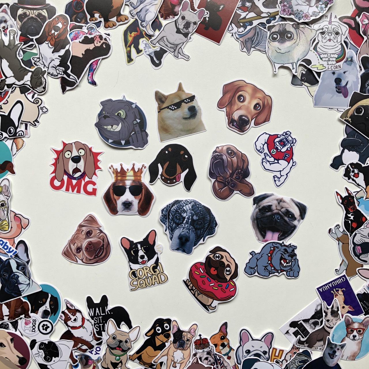 Bộ 50 Sticker Chủ Đề Dog - Cún Cưng 2019