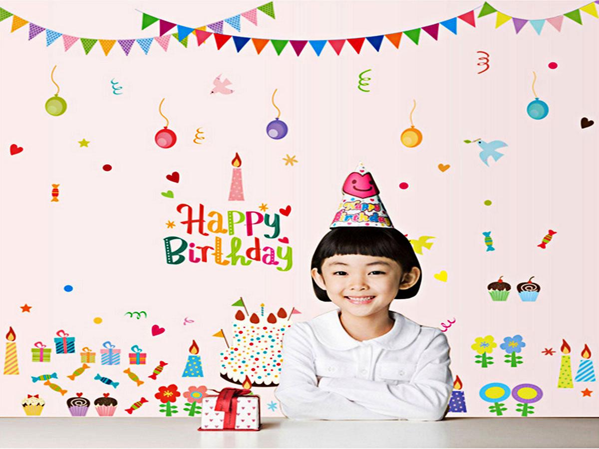Decal dán tường chúc mừng sinh nhật happy birthday