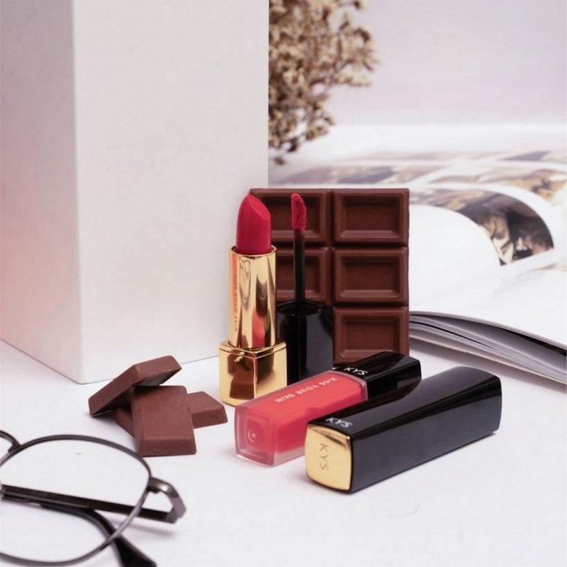 Son lì chocolate KYS Honey đỏ cam – Allure