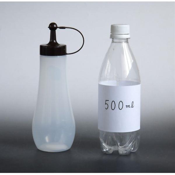 Bộ 2 chai đựng tương màu trắng nắp nâu - Hàng Nội Địa Nhật