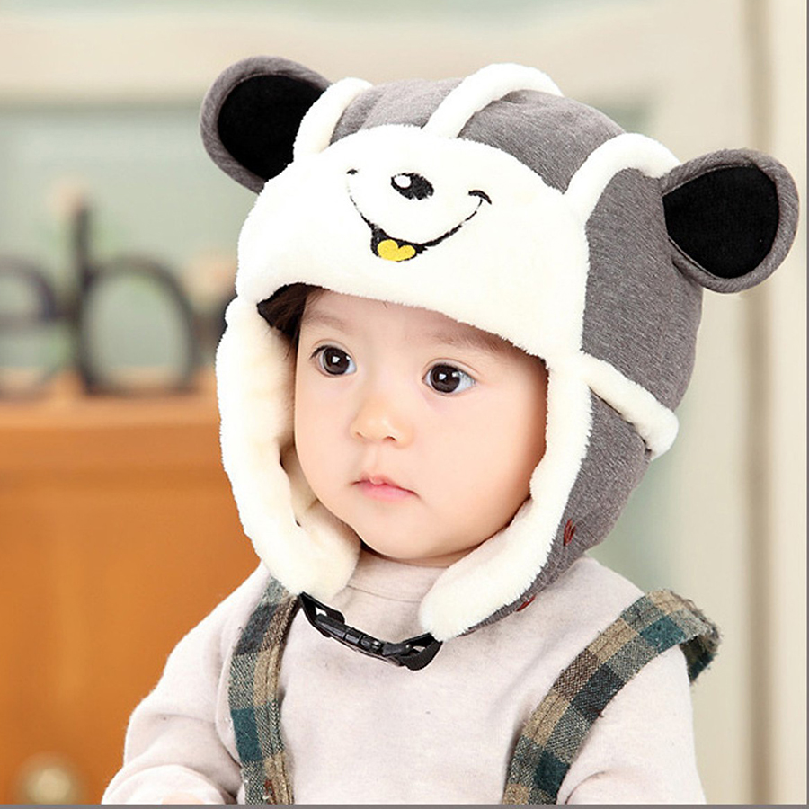 Mũ len kiêm khẩu trang cho bé