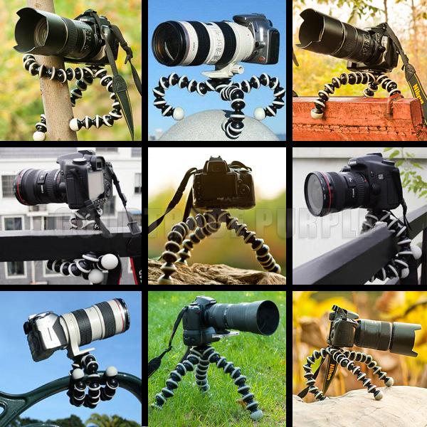 Tripod bạch tuộc size L có nút lock cho máy ảnh 260x50x50 mm